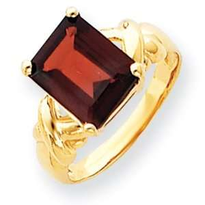 14k Gold 11x9mm Emerald Cut Garnet ring Jewelry