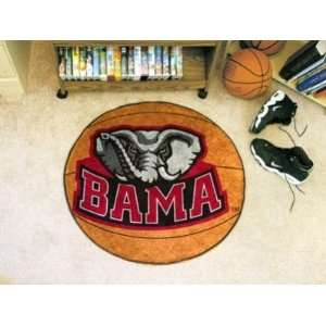 Alabama Crimson Tide Logo Basketball Shaped Area Rug Welcome/Bath Mat