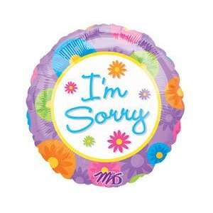Im Sorry Colorful Flower 9 Air Filled Cup & Stick