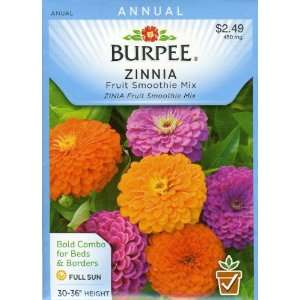 Burpee 39571 Zinnia Fruit Smoothie Seed Packet Patio, Lawn & Garden