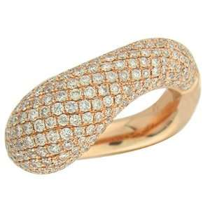 2.10ct TDW Rose Gold Diamond Ring Jewelry