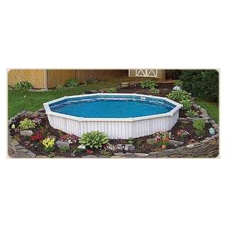 Oval Semi Inground Oasis Extruded Aluminum Slat Wall Swimming Pool Kit