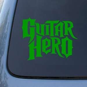 GUITAR HERO   Vinyl Car Decal Sticker #1776  Vinyl Color Green