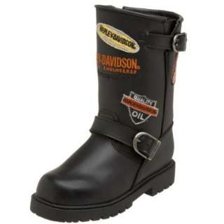 Harley Davidson Unisex Little Kid/Big Kid Patches Boot Shoes