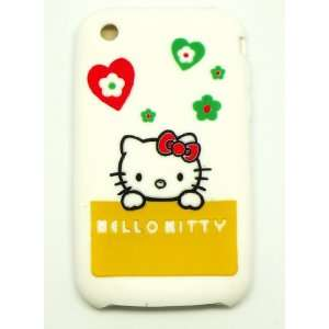 White Hello Kitty Silicone Full Cover Case for iPhone 3 3G 3GS Cell