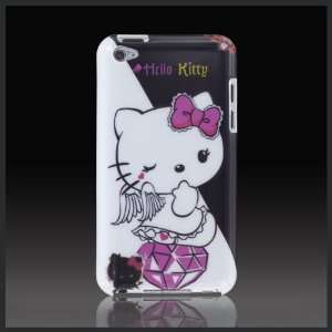 Hello Kitty White Angel Black Devil hard case cover for Apple iPod