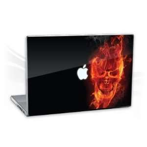 MacBook Pro 15,4   Burning Skull Notebook Laptop Vinyl Sticker