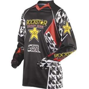 ANSWER RACING ION ROCKSTAR JERSEY BLACK/RED LG Sports