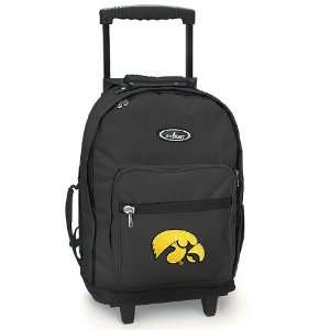 Iowa Hawkeyes Rolling Backpack University of Iowa   Wheeled Travel or