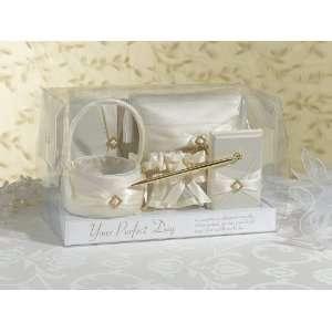 Wedding Set, Ivory Rhinestone