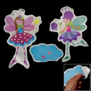 Amico Child Room Flower Fairy Design 3 Pcs PVC Wall Sticker Decor
