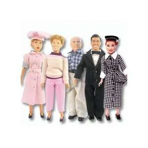 I Love Lucy Series 1 Complete Set of 5 Action Figures