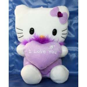 Hello Kitty Plush with Heart I Love You  Purple Toys & Games