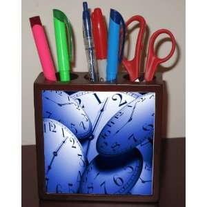 Rikki KnightTM Clock Faces Designs 5 Inch Tile Maple Finished Wooden