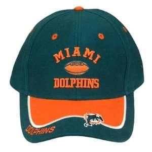 NFL OFFICIAL MIAMI DOLPHINS GREEN ORANGE CAP HAT ADJ