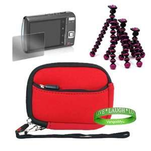 Red Neoprene Cover Case for Nikon Coolpix Mini Glove Bag