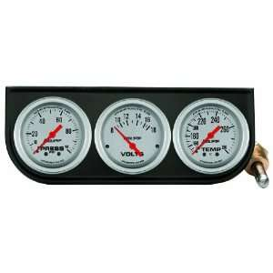 Auto Meter 2366 Black 2 1/16 3 Gauge Panel Automotive