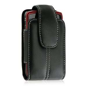 Net10 LG Optimus Q L55C Black Leather Vertical Case Pouch: Cell Phones