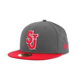 Red Storm New Era 59FIFTY NCAA 2 Tone Graphite and Team Color Hat