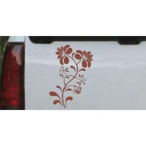 Swirl Leaf Flowers And Vines Car Window Wall Laptop Decal