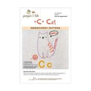 and Fish Embroidery Patterns Cat; 3 Items/Order: Arts, Crafts & Sewing