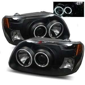 95 01 Ford Explorer CCFL Halo Projector Headlights   Black