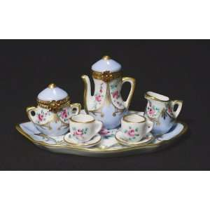 French Limoges 8 Pc Tea Set 2 Limoges Boxes 5 Miniatures