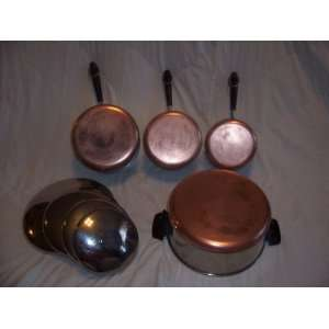 1801 Revere Ware Stainless Steel Copper Bottom Pots