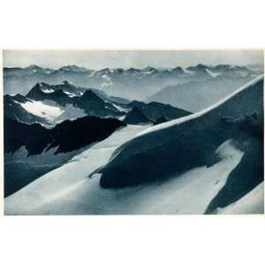 Tyrol Mountains Ranges ope Snow Venoste   Original Photogravure