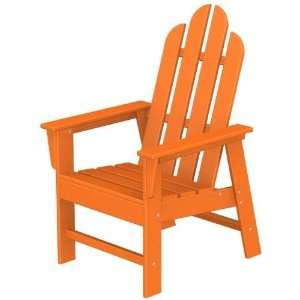 : Poly wood Recycled Plastic Wood Long Island Adirondack Dining Chair