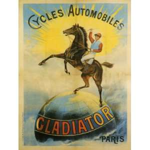 BIKE Bicycle Gladiator Cycle Paris, France French Jockey