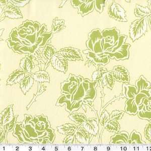 45 Wide Pop Garden Wallpaper Roses Ivory Fabric By The