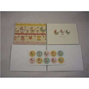 Baby Buggy Thank You Set with Seals