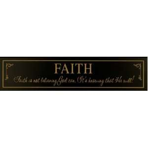 Black primitive decor wood sign Faith