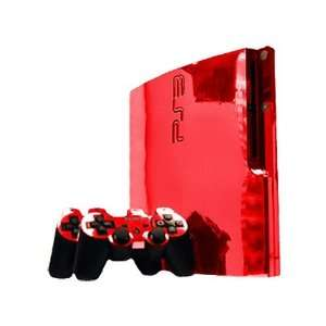 Sony PlayStation 3 Slim Skin (PS3 Slim)   NEW   RED CHROME