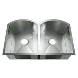 : LI 2200 S Plati Series 16 Gauge Double Bowl Undermount Kitchen Sink