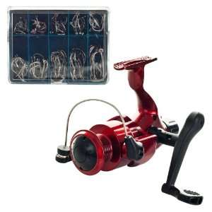 Gone FishingT Open Face Spinning Reel with 90 Peice Hook