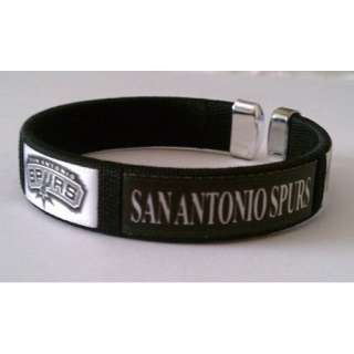 San Antonio Spurs Team Logo Basketball Bracelet Wristband