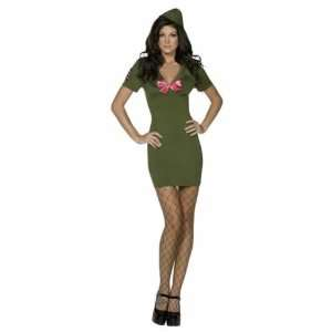 New Ladies Sexy Army Cadet Fancy Dress Costume Size L [Toy