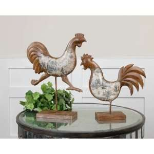 Country Chickens, Statues