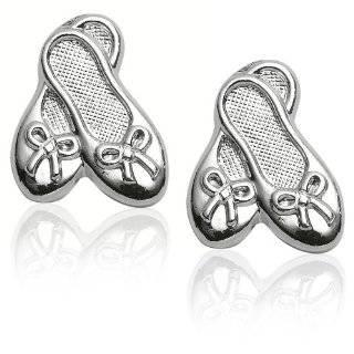 Sterling Silver Childrens Teddy Bear Earrings Jewelry