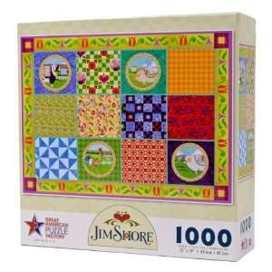com Jim Shore   Farm Animals Quilt   1000 Pieces Puzzle Toys & Games