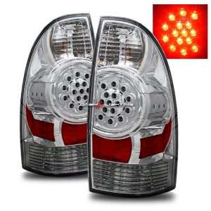 05 08 Toyota Tacoma LED Tail Lights   Chrome Automotive