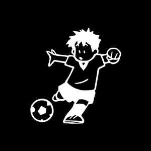 Soccer Boy vinyl window decal sticker