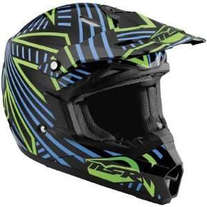 MSR Assault Graphics Helmet, Black/Cyan/Green, Helmet Type