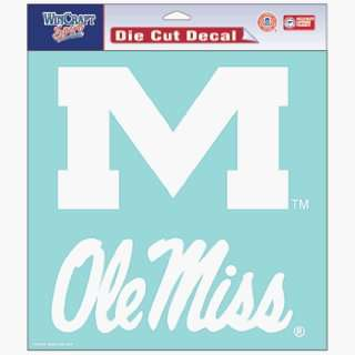 NCAA Ole Miss Rebels 8 X 8 Die Cut Decal