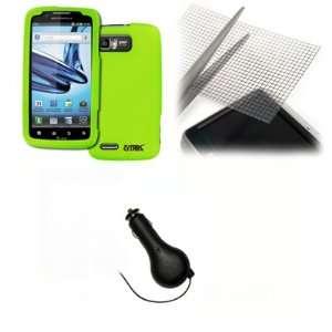 EMPIRE Motorola Atrix 2 Neon Green Rubberized Hard Case