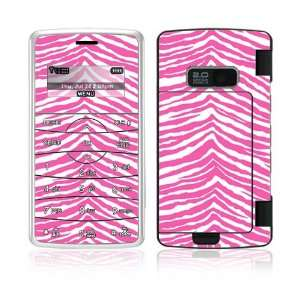 Pink Zebra Decorative Skin Cover Decal Sticker for LG enV2
