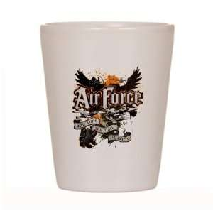 Shot Glass White of Air Force US Grunge Any Time Any Place