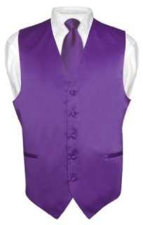 Mens PURPLE INDIGO Tie Dress Vest NeckTie Set for Suit or Tuxedo
